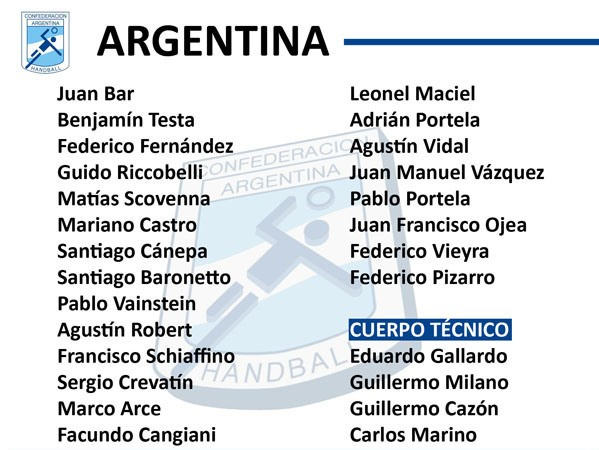 Lista de Argentina para enfrentar a Chile